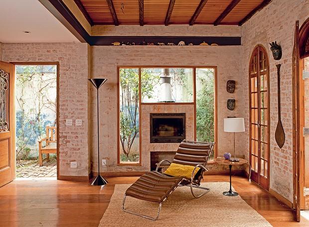 Casa-arquiteto-carlos-verna-tijolos (Foto: Edu Castello/Editora Globo)