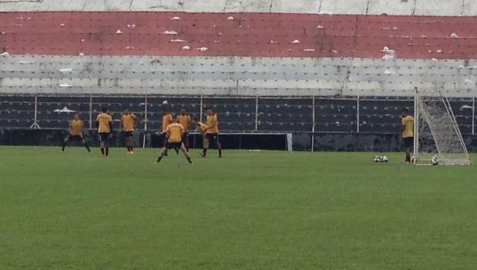 Paulista treino Copa SP  (Foto: Natália de Oliveira)