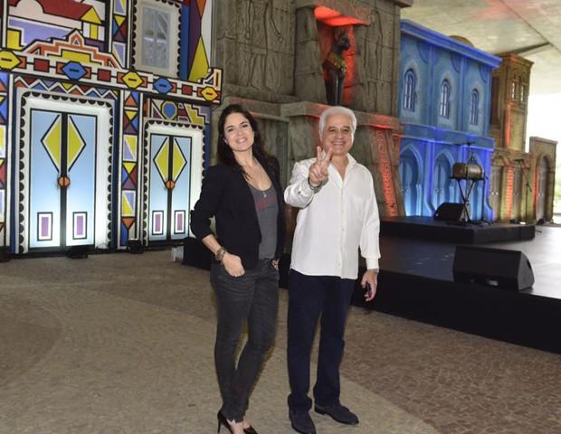 Roberta e Roberto Medina (Foto: Fabio Cordeiro/ Ed. Globo)