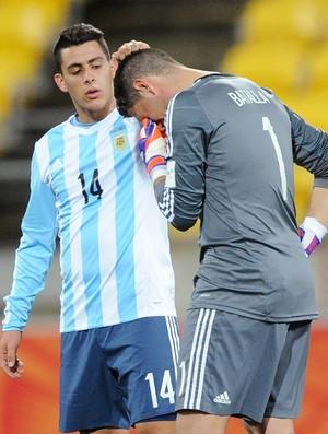 Áustria 0x 0 Argentina Mundial sub-20 Pavon e Batalla - AP (Foto: AP)