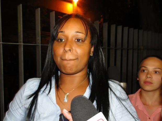 Dayanne Rodrigues é julgada no Fórum de Contagem (Foto: Pedro Cunha/G1)