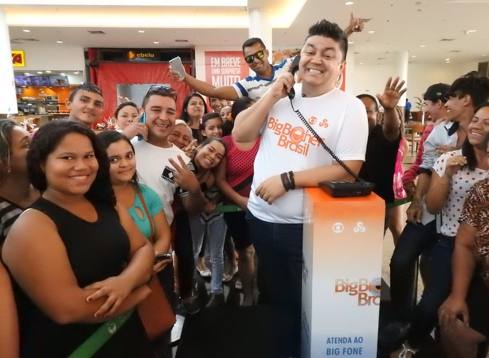 Márcio Braga comanda programação do Big Fone em Manaus (Foto: Rede Amazônica)