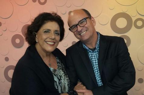 Leda Nagle e o escritor Luiz Ruffato  (Foto: Divulgação)