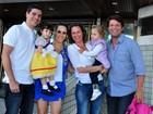 Famosos comparecem à festa de 2 anos de filha de Fernanda Pontes