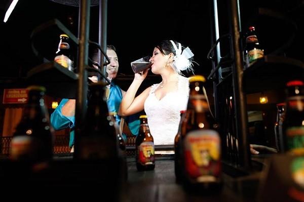 O casal Luis Miguel e Patrícia Sanches está montando sua cervejaria