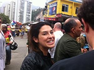 Fernanda Paes Leme também marcou presença  (Foto: Cristiane Cardoso/G1)