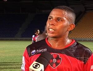 Mazinho marcou o segundo gol do Moto no jogo (Foto: Reprodução/TV Mirante)