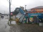 Grande Florianópolis tem estragos e desalojados com forte chuva e vento
