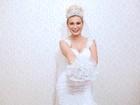 Andressa Urach faz ensaio vestida de noiva e admite: 'Frio na barriga'