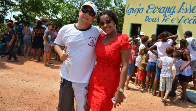 Ricardo e Sarah (Foto: Renato Pereira)