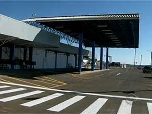 Aeroporto de Chapecó já está com fluxo normal de passageiros (Foto: Reprodução/RBS TV)