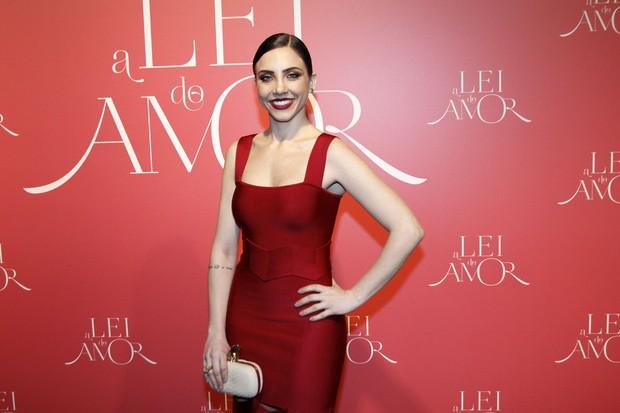 Carolina Lopez na festa da novela A Lei do amor  (Foto: Celso Tavares / Ego)