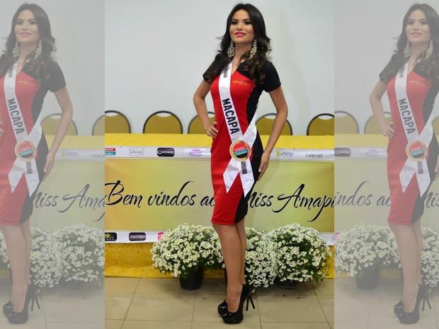Joely Teixeira, representante de Macapá, candidata ao Miss Amapá 2016 (Foto: Miss Amapá/Divulgação)