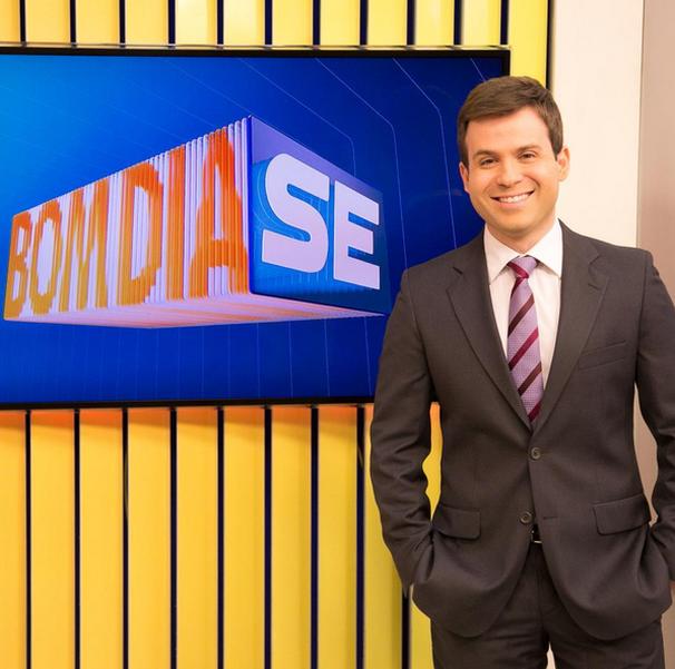 Lyderwan Santos traz as primeiras notícias do estado, no Bom Dia Sergipe (Foto: Divulgação / TV Sergipe)