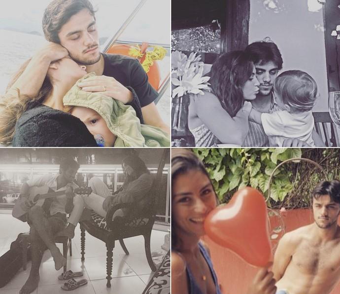Felipe demostra o amor pela mulher e filho nas redes sociais (Foto: Arquivo Pessoal)