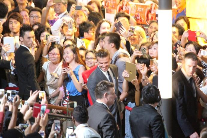 Beckham evento Cingapura (Foto: Splash News/ AKM - GSI)