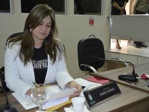 Vereadora de Macapá Aline Gurgel deverá disputar a segunda eleição (Foto: Abinoan Santiago/G1)