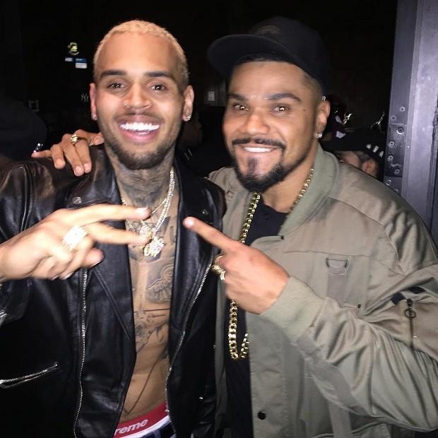 Naldo e Chris Brown (Foto: Reprodução/Instagram)