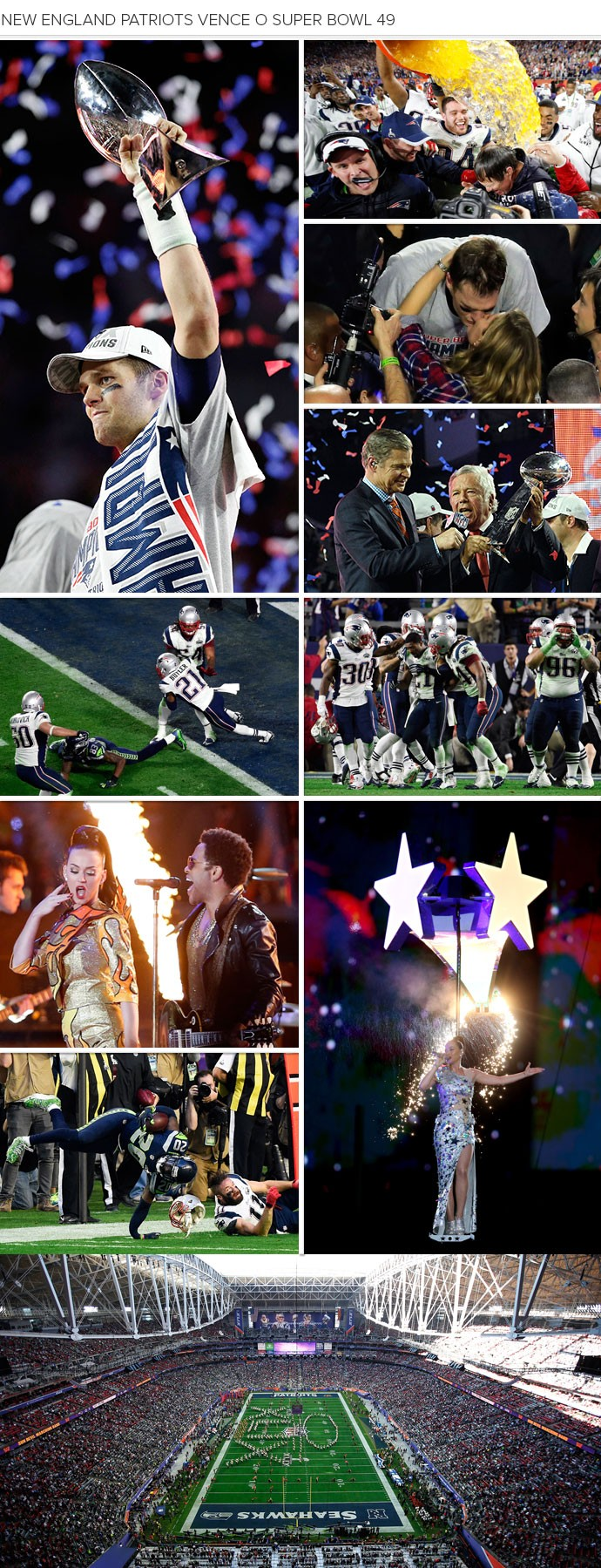 Mosaico Super Bowl 49 (Foto: Montagem sobre foto da Reuters)