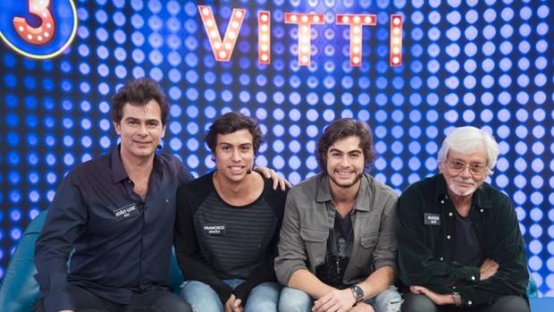Tamanho Família recebe Vitti e Sheron Menezzes (Divulgação)