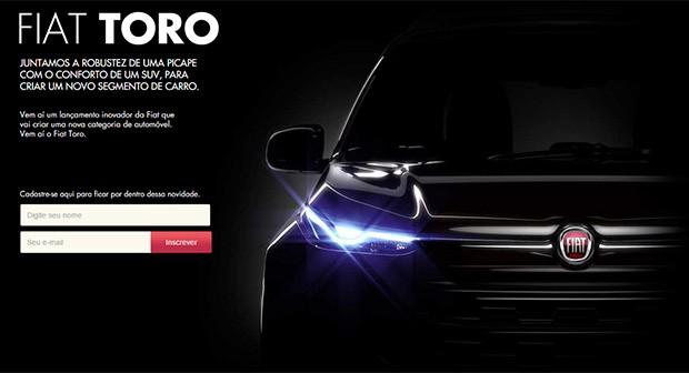 Fiat Toro ganha site de pré-lançamento (Foto: Reprodução)