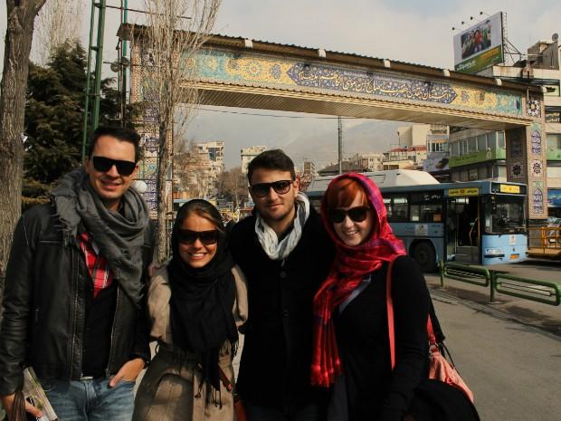 Jovens de Curitiba foram os únicos da América Latina a participarem de Conferência da ONU no Irã (Foto: Flávia Kraetz/ Arquivo Pessoal)