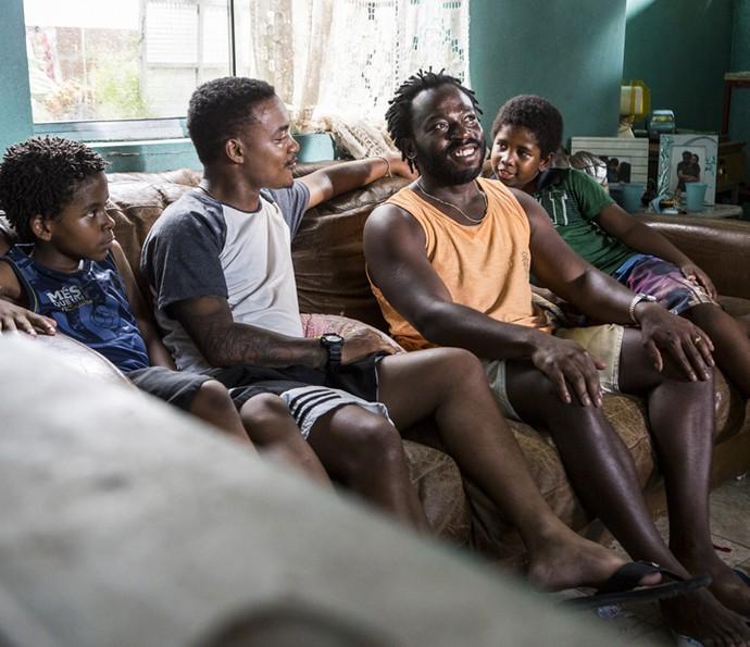 Laranjinha é pai de Davi e Acerola é pai de Clayton (Foto: Ellen Soares/ Gshow)