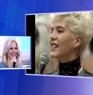 Paula Toller revê cenas do início da carreira (TV Globo)
