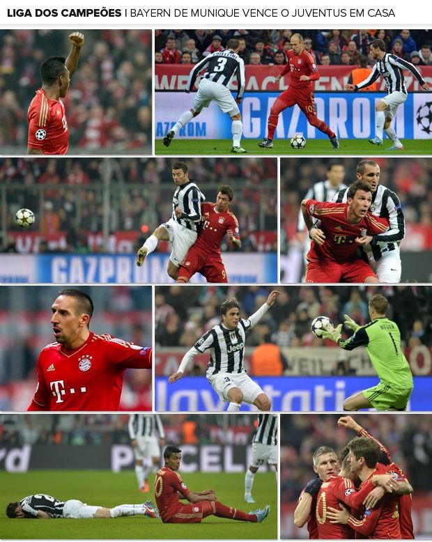 Mosaico - Bayern de Munique x Juventus (Foto: Editoria de Arte)