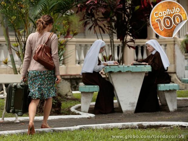 Doralice entra em um convento (Foto: Flor do Caribe / TV Globo)