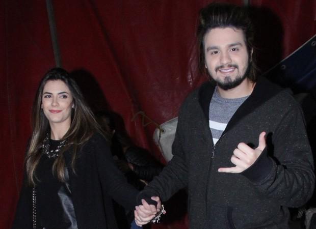 Luan Santana e a namorada, Jade Magalhães (Foto: Wallace Barbosa/AgNews)