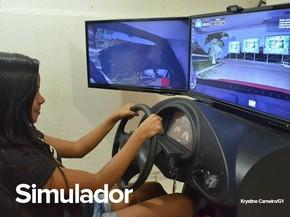 Aulas para obter CNH para carro devem incluir o simulador (Foto: Krystine Carneiro/G1)