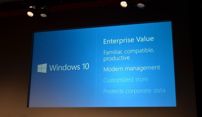 Windows 10 será mais amigável para empresas e sistemas de gestão (Foto: Reprodução/TheVerge)