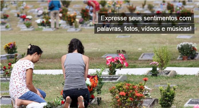 Memorial Online permite eternizar as memórias de quem já morreu (Foto: Reprodução/Isabela Giantomaso)