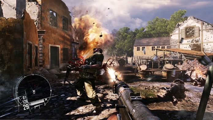 Os efeitos de explosão, sangue e demolição exagerados são parte intencional da experiência do jogo (Foto: Divulgação/Namco Bandai)