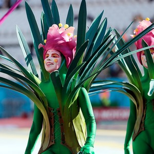 Cerimônia de abertura  (Foto: AP Photo/Ivan Sekretarev)