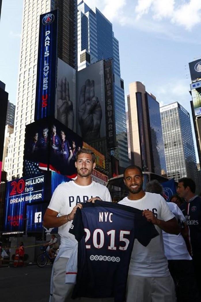 Lucas Moura e Kevin Trapp em Nova Iorque