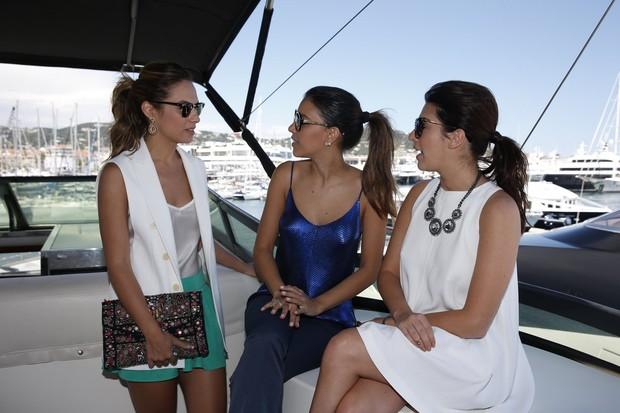 Patrícia Bonaldi, Mariana Rios e Fernanda Paes Leme em Cannes (Foto: Felipe Panfili / AgNews)