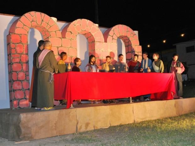 Paixão de Cristo de Camaragibe traz personagens novos à história bíblica. (Foto: Divulgação)