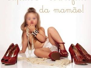 Campanha gerou polêmica por usar imagem de crianças em poses consideradas sensuais (Foto: Reprodução)