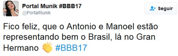 Tweet Manoel e Antonio Espanha (Foto: Twitter)