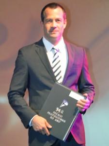 O ator Malvino Salvador durante a apresentação do 34º Prêmio Profissionais do Ano® - Região Sudeste Interior (Foto: Fabiana de Paula / Globo.com)