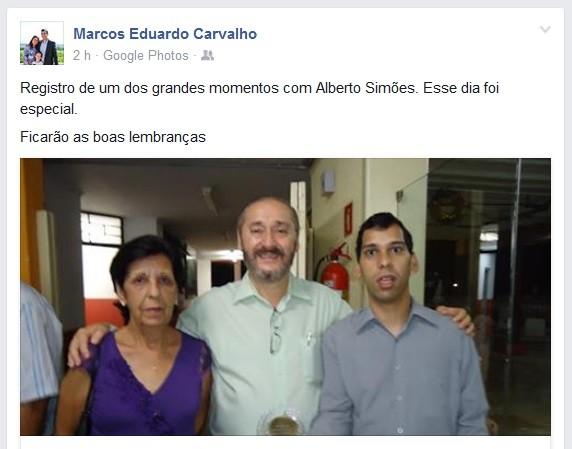 Marcos Eduardo Carvalho Alberto Simões (Foto: Reprodução/Facebook)