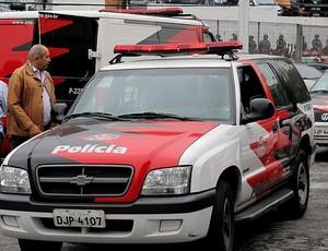 polícia final campeonato paulista (Foto: Marcelo Hazan / Globoesporte.com)