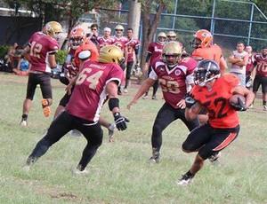 Campeonato Capixaba de futebol americano 2015: Desportiva Piratas x Vila Velha Tritões (Foto: Roberto Pereira Júnior)