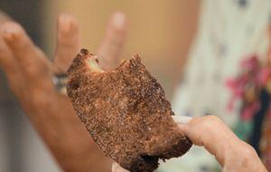 Rabanada de pão integral com leite de coco e rapadura