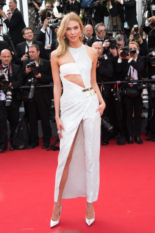 Karlie Kloss na cerimônia de abertura do Festival de Cannes 2015 (Foto: Getty Images)