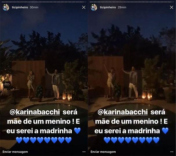 Karina Bacchi será mãe de um menino (Foto: Reprodução/Instagram)