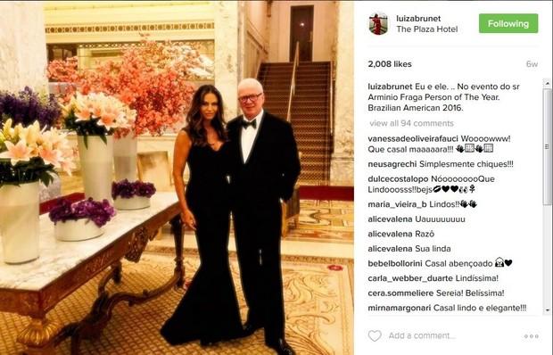 Luiza Brunet e Lirio Parisotto (Foto: Reprodução/Instagram)