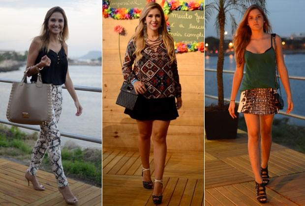 Fashionistas apostam em peças estampadas no Fashion Rio. Vote em qual estilo combina mais com você!